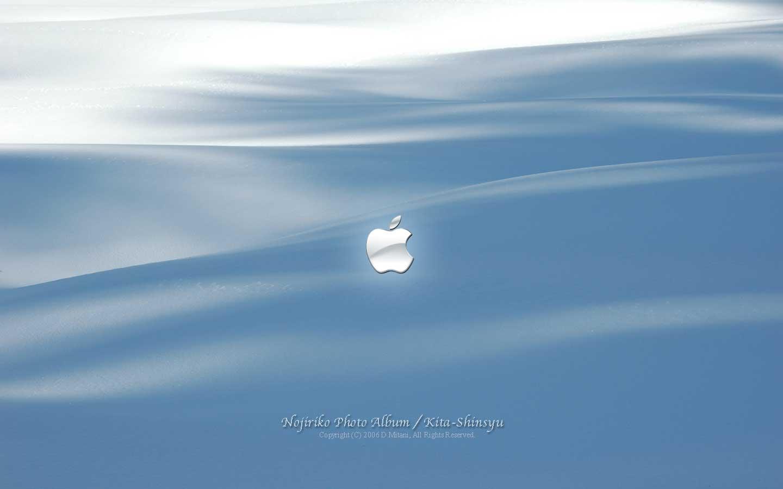 Mac壁紙 涼感 雪景色